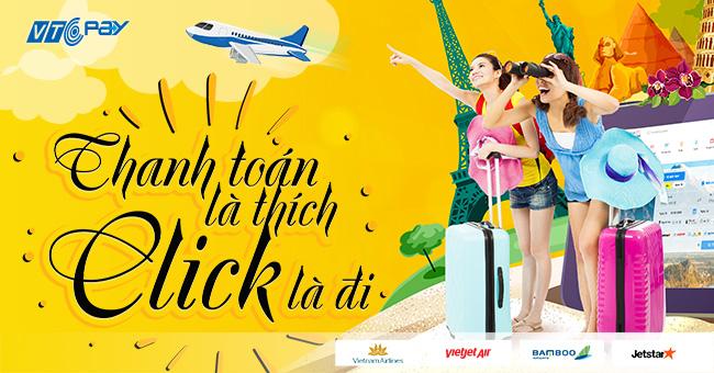 đặt vé máy bay tại Ví điện tử VTC Pay