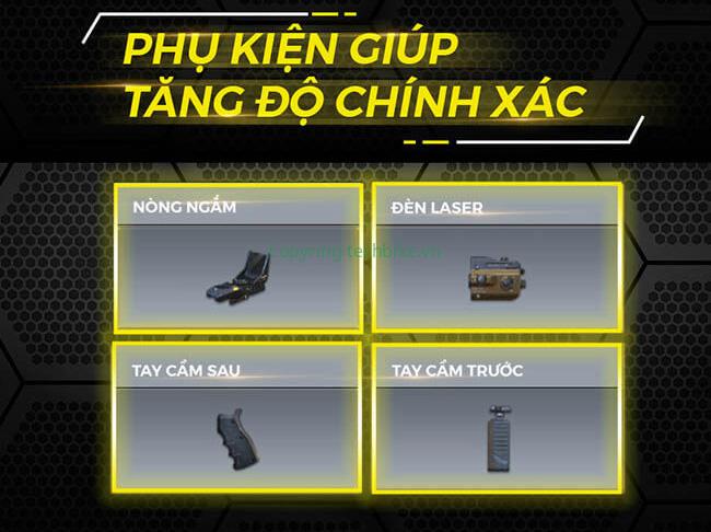 Phụ kiện trang bị súng call of duty mobile