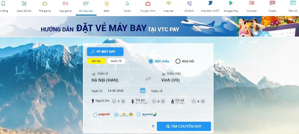 tìm chuyến bay Vietnam Airlines