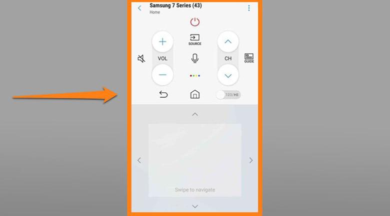 điều khiển tivi Samsung bằng điện thoại Android